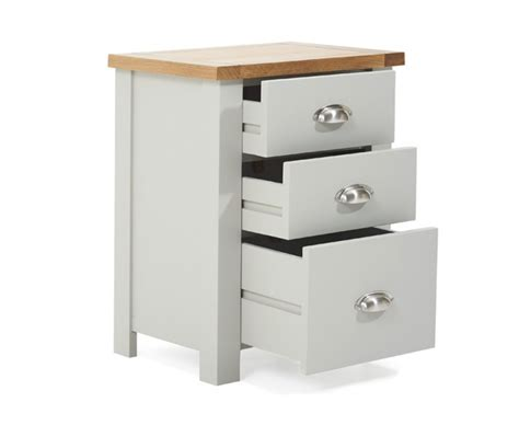 Tall Dining Room Table Sets by Somerset Oak And Grey Tall 3 Drawer Bedside Table The