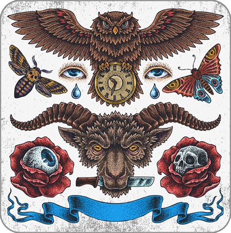 欧美古典纹身图案 素材中国sccnn com