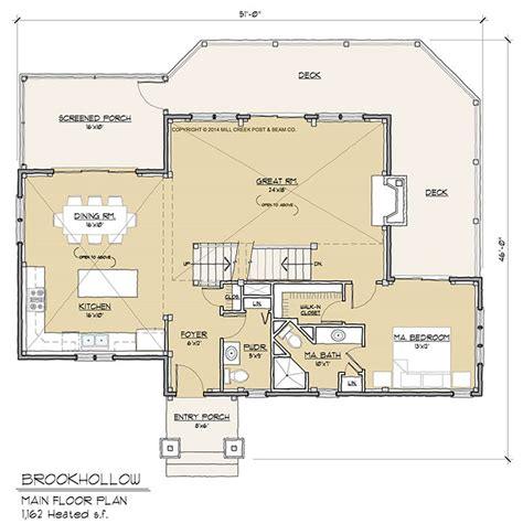 timber frame floor plans brookhollow timber frame floor plan by mill creek