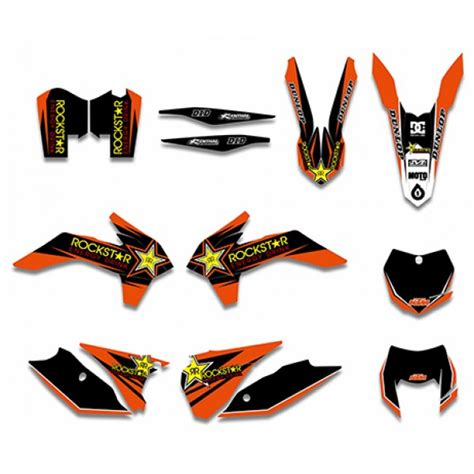 Ktm 500 Graphics Rockstar Graphics Decals Kit For Ktm 125 200 250 300 450