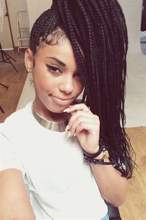 box braids type of hair how to style box braids 50 stunning ideas from pinterest