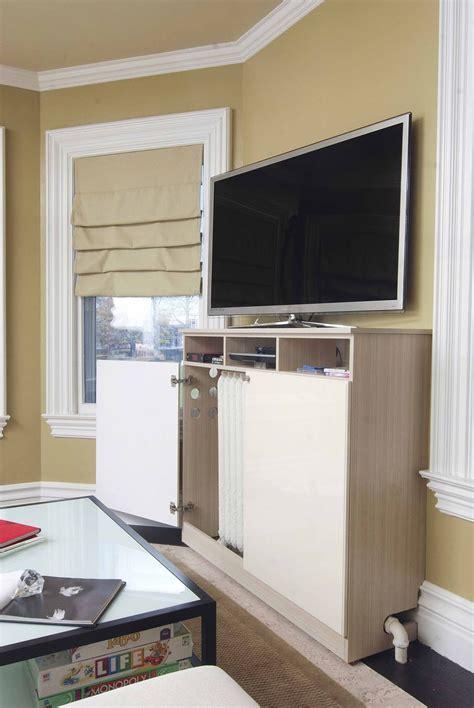 custom  radiator cover media cabinet  closet solutions custommadecom
