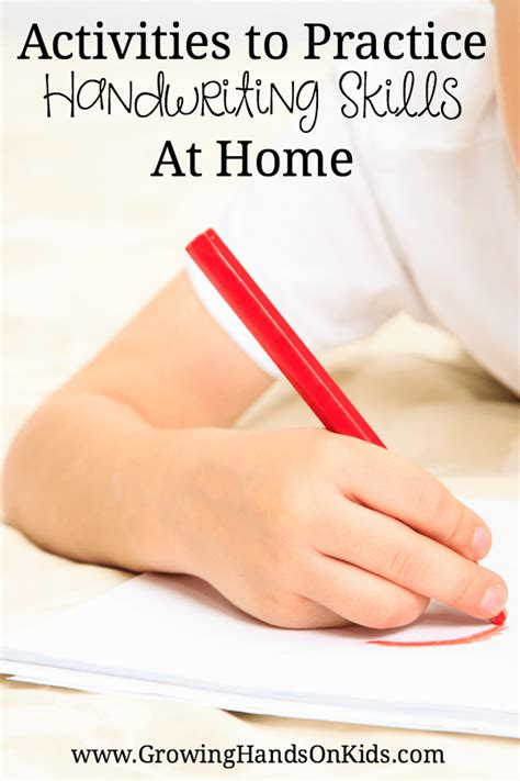 activities to practice handwriting skills at home
