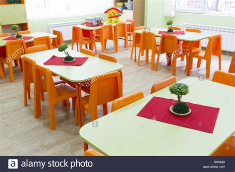 kindergarten table and chairs kindergarten classroom with small chairs and tables stock