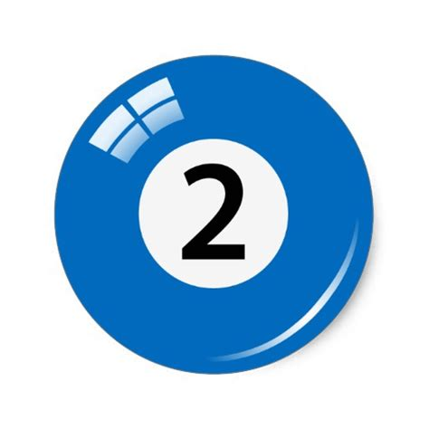 r ball 2 number two pool ball stickers labels zazzle