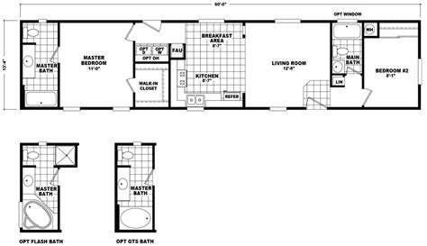 14x70 mobile home floor plan new single wide mobile homes