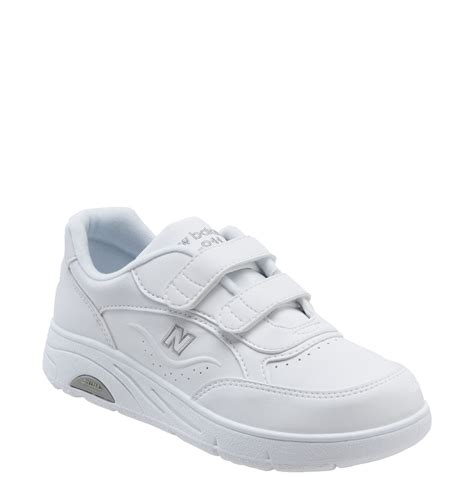 new balance w811 velcro walking shoe in white lyst