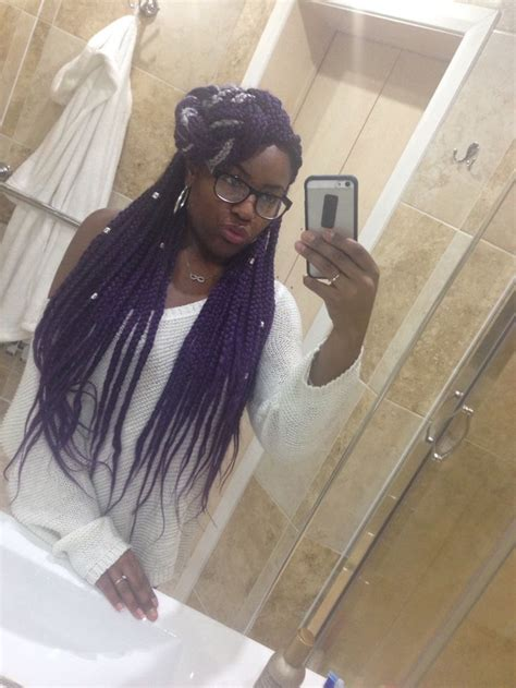 grey and purple combined together style box breads 1000 ideas about purple box braids on pinterest box