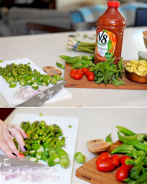 v 8 vegetables tortellini and vegetable soup recipe v8vegout