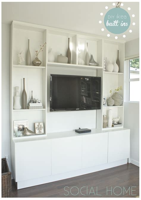 using ikea kitchen cabinets for family room yet another diy ikea built in