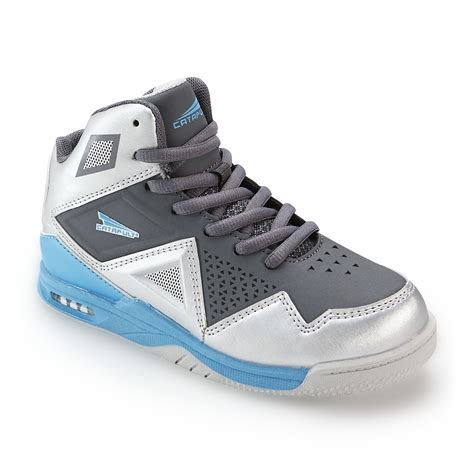 kmart basketball shoes catapult boy s clutch silver blue high top basketball shoe