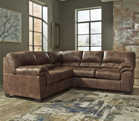 leather sectional sofa ashley ashley signature design bladen 2 piece faux leather