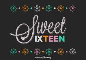 Free sweet sixteen lettering vector download free vector art stock