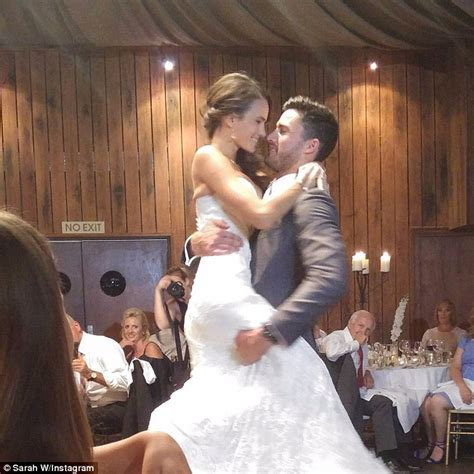 the bachelor s alana wilkie dazzles as she weds footballer