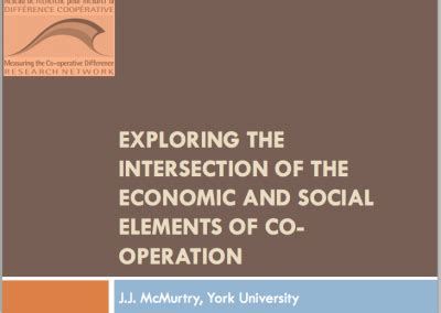Mba Co Op Programs In Ontario by On The Economy Measuring The Co Operative Difference