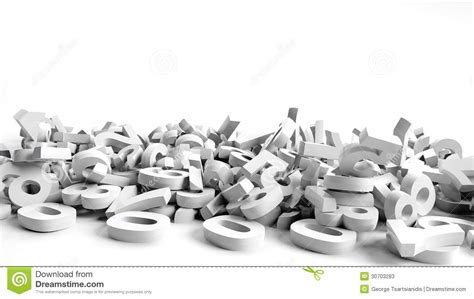 white background with falling numbers fallen 3d numbers stock illustration image of fallen
