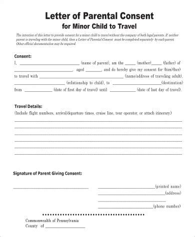 consent letter for minor to get passport die besten 25 consent form children ideen auf
