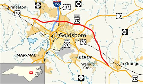 goldsboro carolina map u s route 70 bypass goldsboro carolina