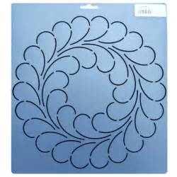 Quilting Stencils 342 10 5 Inch Diameter Feather Circle Block Quilt Stencil