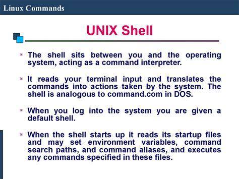 online tutorial unix shell scripting linux commands презентация онлайн