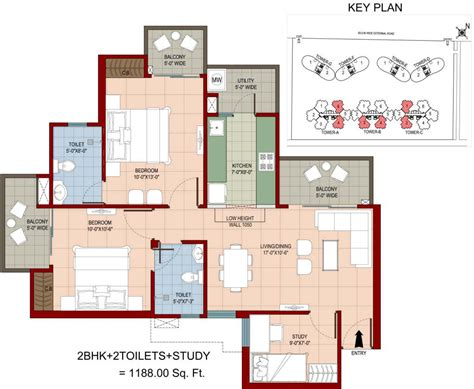 organic floor plan 1188 sq ft 2 bhk 2t apartment for sale in vyom probuild