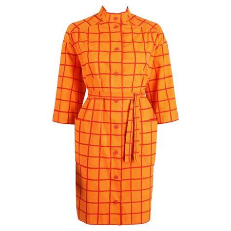design research dress marimekko design research 1960s orange window pane cotton