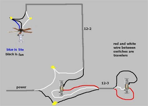 light and ceiling fan switch wiring diagram on