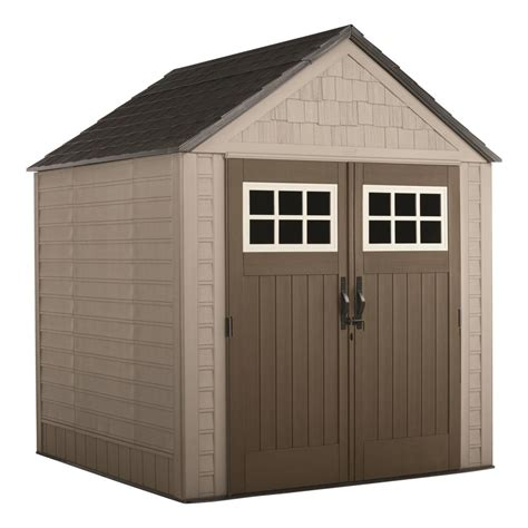 rubbermaid big max  ft   ft storage shed