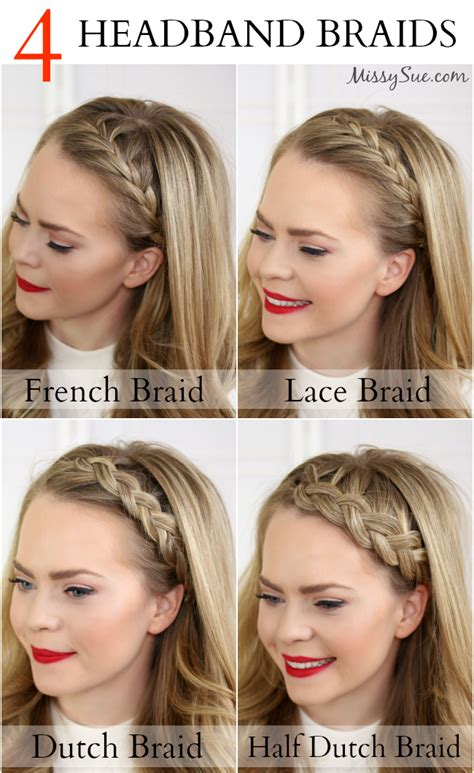 how to do a headband braid step by step four headband braids