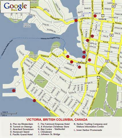 Victoria Canada Map by Alaska Cruise Port Call Victoria Bc Canada Page 3