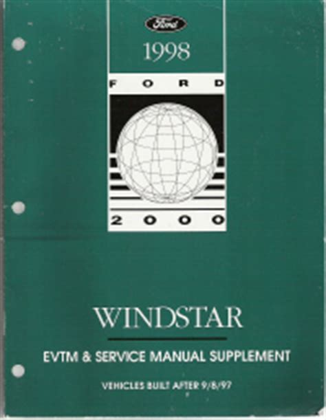 where to buy car manuals 1998 ford windstar navigation system 1998 ford windstar factory evtm service manual supplement softcover