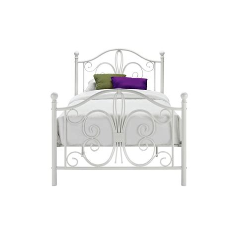 white metal twin bed bombay twin metal bed in white 3246098