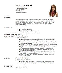 Modelo Curriculum Operario Modelo Cv Ayudante De Limpieza Livecareer