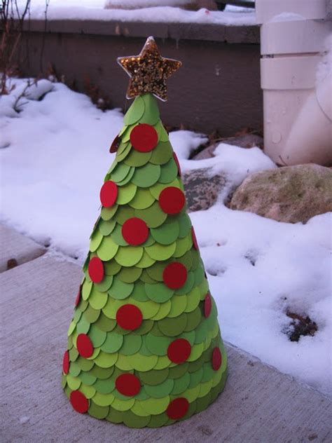christmas tree tissue paper cone tree craft 38 crafts decoration ideas you can try this year decoration