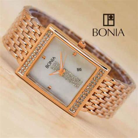 Harga Jam Tangan Wanita Merk Bonia jual jam tangan bonia wanita kotak tali stainless mb14