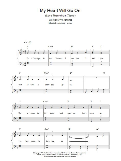 keyboard tutorial my heart will go on titanic theme song piano sheet music with letters my