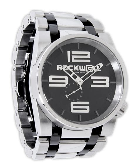 50mm silver black rockwell watches