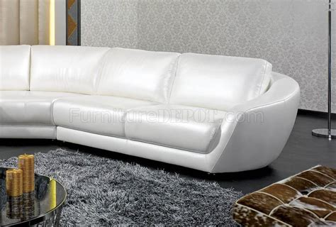 white italian leather sectional sofa k8346 sectional sofa in white italian leather by vig