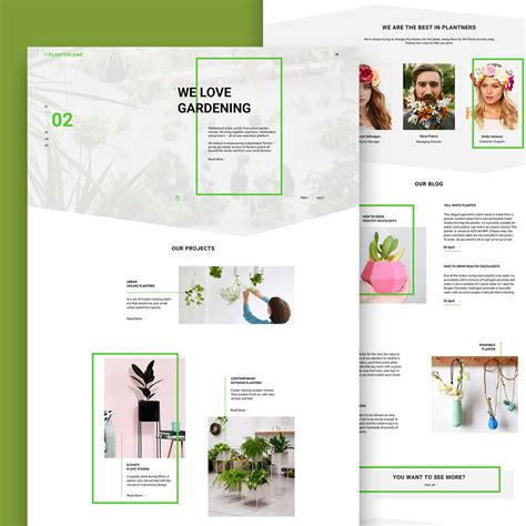 home design website templates free gardening and exterior design website free psd template