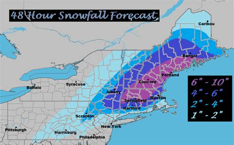 snowfall map northeast weather 48 hour snowfall totals forecast map pennsylvania 24 hour