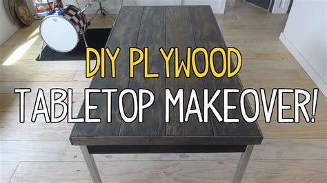 diy table top simple diy plywood plank tabletop makeover