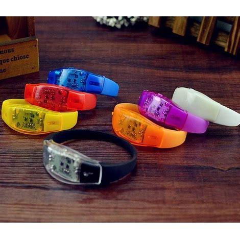 Led Bracelet With Sound And Motion Sensor led bracelet with sound and motion sensor orange