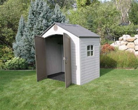 Outside Storage Buildings Cheap Garden Sheds Lifetime 8 X 5 Ft Outdoor Storage Shed
