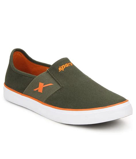 sparx shoes sparx sc0214g green canvas casual shoes buy sparx
