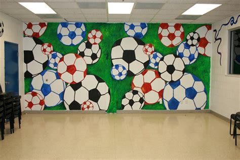 soccer wall mural everything s an easel provides custom work in the canton arbor ypsilanti area we