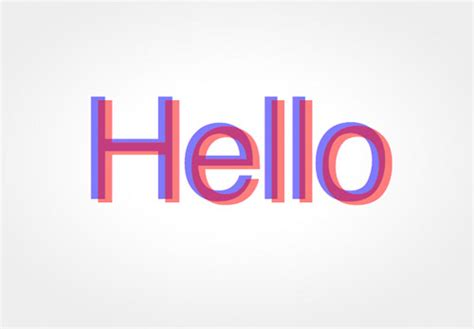 how to create a cool anaglyphic text effect with css