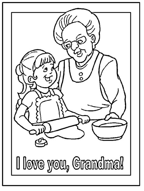 grandma coloring pages   print