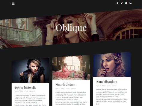 Theme Wordpress Oblique | theme directory free wordpress themes
