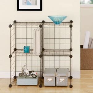 4 cubes grid wire modular shelving and storage cubes fh