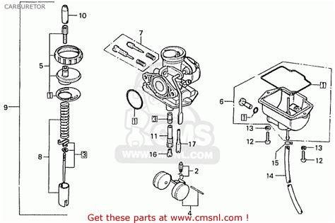 honda cd70b general export type 4 carburetor schematic